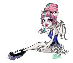 Dance Class Rochelle Goyle (look up the webisode for more details) Sidenote: I may change hte pattern on her body as soon as I'll have some more time to. Monster High Art, Monster High Characters, Monster High Pictures, Rochelle Goyle, Personajes Monster High, Gifs, She Is Gorgeous, Monster High Dolls, Dance Class