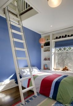 Boys would just love this ladder access to their playroom.