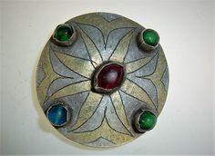 Turkmenischer Knopf Antiker Turkmenischer von neemaheTribal auf Etsy