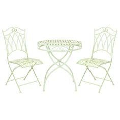 This stylish bistro set will suit perfectly in your garden, patio or deck, adding a touch of distinction to your outdoor area. For your comfort the chairs are fully foldable, so they don't take up much space when not needed. | eBay!