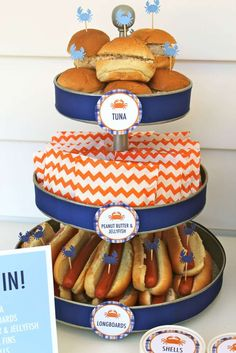Party food at a surf birthday party! See more party planning ideas at CatchMyParty.com!