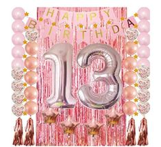 Gold Glitter Thirteen Cake Topper,Happy 13th Birthday,Number 13 Wedding Anniversary Party Decoration Supplies Acrylic