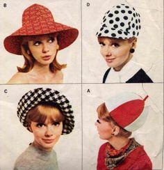 mod hats in 1960's - Swinging London