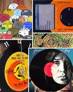 recycling vinyl records