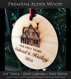 Our First Home Christmas Ornament  Log by WeddingTreeGuestbook  $9.00
