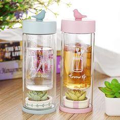 Pink/Blue Pocket Garden Water Bottle SP179974 - SpreePicky