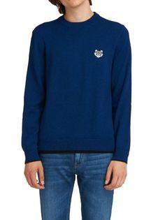 Kenzo Blue Jumper In Wool
