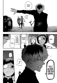 Loooved this part...Haise is so badass! Tokyo Ghoul:re Ch.7 page 9 (Pose & Look)