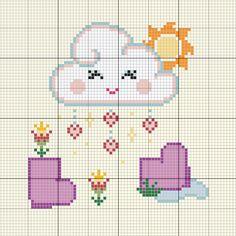 Cross Stitching, Cross Stitch Embroidery, Cross Stitch Patterns, Cross Stitch Baby, Cross Stitch Alphabet, Perler Patterns, Plastic Canvas Patterns, Beading Patterns, Baby Knitting