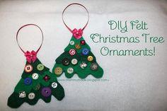 DIY Button DIY Felt Christmas Tree Ornaments DIY Button
