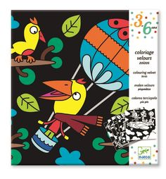 Birdz Velvet Colouring Cards by Djeco Velvet Sheets, Party Bag Toys, Cheap Toys, Star Chart, Create Words, Color Card, Bird Art, Game Art, Gifts For Kids