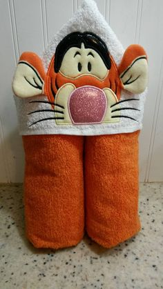 Check out this item in my Etsy shop https://www.etsy.com/listing/249554009/hooded-towel-bouncing-tiger