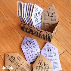DIY Tea bag envelopes Advent Calendar Diy Tea Bags, Paper Toy, Homemade Tea, Diy Advent Calendar, Paper Houses, Christmas Countdown, Diy Kits, Decoration, Envelopes