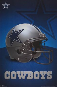 A great poster for fans of the Dallas Cowboys NFL Football Team! The helmet for one of the winning-est teams of all time! Need Poster Mounts. Dallas Cowboys Football, Dallas Cowboys Posters, Dallas Cowboys Images, Dallas Cowboys Wallpaper, Nfl Football Helmets, Cowboys 4, Football Memes, Football Signs, Football Baby