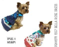 ON SALE Lily Mae Dog Dress Pattern 1726 Small & by SofiandFriends