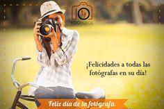 Fotógrafas feliz día de la fotógrafa