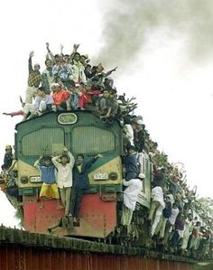 I actually saw trains that looked just like this when I was in India...