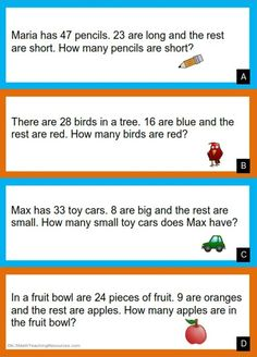 2nd Grade addition and subtraction word problems