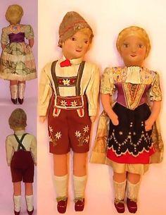 German antique dolls.