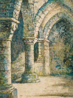 Alexandre Ruellan (1864-1931) - Crypte de l'Aquilon au Mont Saint Michel