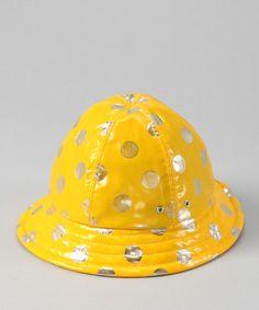 Look what I found on #zulily! Sunshine Polka Dot Rain Bucket Hat #zulilyfinds
