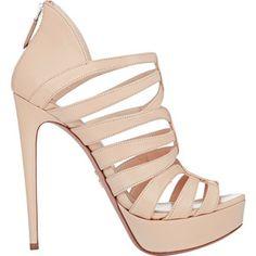 Prada Strappy Back-Zip Platform Sandals