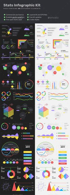 Buy Stats Infographic Kit by cropqa on GraphicRiver. DESCRIPTION: A stats infographic kit that will enable you to use visual representations of information and data to pr. Icon Design, Web Design, Graphic Design, Logo Design, Visual Analytics, Infographic Templates, Infographics Design, Tutorials, Journals