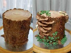 "УКРАШЕНИЕ ТОРТОВ, Торт ""ПЕНЬ"" от SWEET BEAUTY СЛАДКАЯ КРАСОТА, Cake Decoration - YouTube Creative Cake Decorating, Cake Decorating Techniques, Creative Cakes, Tree Cakes, Bird Cakes, Cupcake Cakes, Cupcakes, Novelty Birthday Cakes, Novelty Cakes"