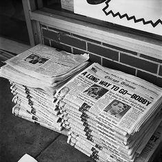 Vivian Maier, Chicago, Newspaper Stacks, 1968