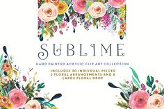 Flower Clip Art - Sublime - Illustrations