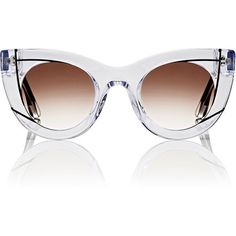 2ad13a7bc305 Thierry Lasry Women s Wavvvy Sunglasses ( 580) ❤ liked on Polyvore  featuring accessories