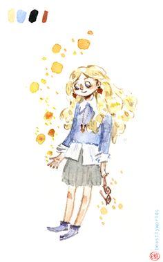 A little watercolour Luna Lovegood