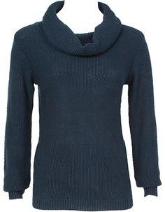 Mooie donkerblauwe trui van armedangels. De trui heeft een rolkraag die je zelf losjes kunt stijlen. Deze duurzame trui valt mooi rond je lichaam en is behaagelijk warm.