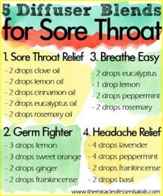 Try any of these essential oil diffuser blends for sore throat for quick natural relief!