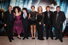 2010: (L-R) Ralph Fiennes, Helena Bonham Carter, Daniel Radcliffe, Emma Watson, J.K. Rowling, Rupert Grint and Timothy Spall attend the World Premiere of Harry Potter and the Deathly Hallows: Part 1 held at The Odeon Leicester Square on November 11, 2010 in London, England. [Source: Dave Hogan/Getty Images Europe]