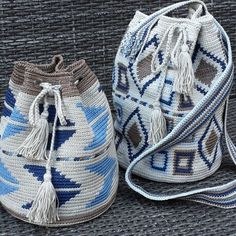 Mochila blue brown
