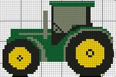 "Details of Cross-stitch kit red Tractor 2 4 ""x # 3 & # & # . Details for Cross-stitch kit red Tractor 2 4 ""x # 3 & Cross Stitch Designs, Cross Stitch Patterns, Knitting Patterns Boys, Crochet Patron, Cross Stitch Needles, Crochet Cross, Counted Cross Stitch Kits, Plastic Canvas Patterns, Le Point"