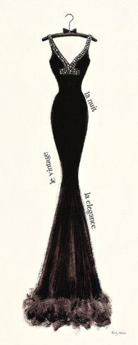 Couture Noir Original I by Emily Adams