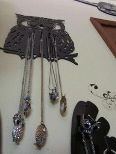 Owl Jewlery Holder/Rack by HEAVENSGATEMETALWORK on Etsy, $34.99