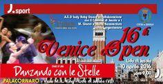 Una giornata dedicata alla danza olimpica, latino americana, nazionale e al tango argentino. Domenica 10 aprile 2016, al Pala Cornaro, è di scena il ballo con le competizioni del 16° Venice Open: gara di ballo per le diverse specialità.  Un appuntamento da non perdere!