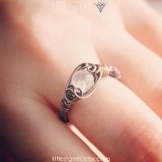 Rose Quartz Ring FREE SHIPPING Inspired by Nature by littlestgem, $18.00