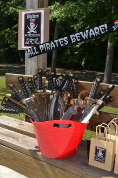 Pirate Party Foam Swords. Find them at My Princess Party to Go.