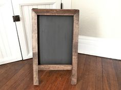 Display of products/Prices..  our vintage home love: DIY Easel Chalkboard