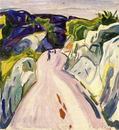 Road near Kragero , Edvard Munch, 1910 - 1911