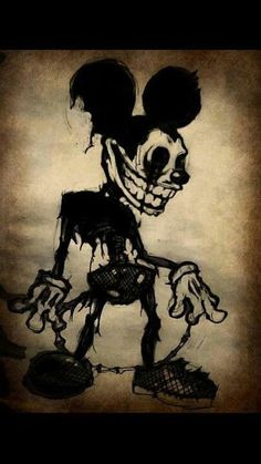Im also a lover of creepy art Creepy Drawings, Dark Drawings, Cool Drawings, Arte Horror, Horror Art, Mickey Mouse Kunst, Horror Drawing, Arte Obscura, Dark Disney