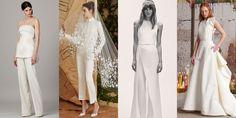 From left: Lela Rose Bridal Spring 2017; Carolina Herrera Bridal Spring 2017; Elie Saab Bridal Spring 2017; Rosie Assoulin Fall 2016.