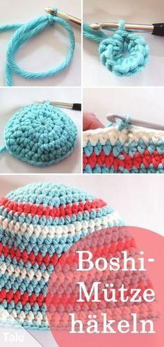 Crochet Boshi hat - DIY instructions for beginners - Talu. Crochet Boshi Hat – DIY Tutorial for Beginners – Talu. Baby Knitting Patterns, Free Knitting, Crochet Patterns, How To Start Knitting, Knitting For Beginners, Diy Hat, Diy Tutorial, Crochet Baby, Crochet Stitch