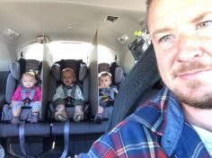 LOL This funny dad who had a hilarious solution to stopping his triplet's backseat fights: | 14 Dads Who Literally Won 2016