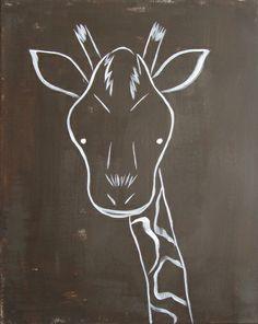 004 - The Giraffe (Modern Kids & Nursery Art) Art Print by Adriane Duckworth - X-Small Nursery Paintings, Nursery Art, Nursery Decor, Giraffe Art, Chalkboard Art, Kitchen Chalkboard, Chalkboard Designs, Modern Kids, Chalk Art