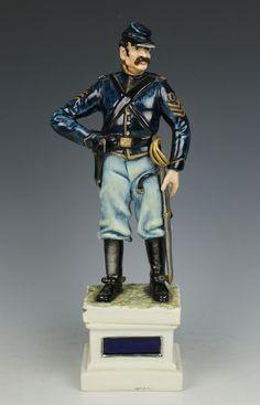 """Capodimonte Guido Cacciapuoti Figurine Soldier """"Cavalryman USA"""""""